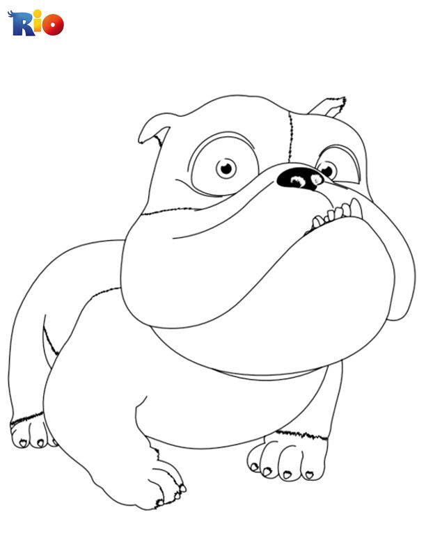 Rio free online coloring page