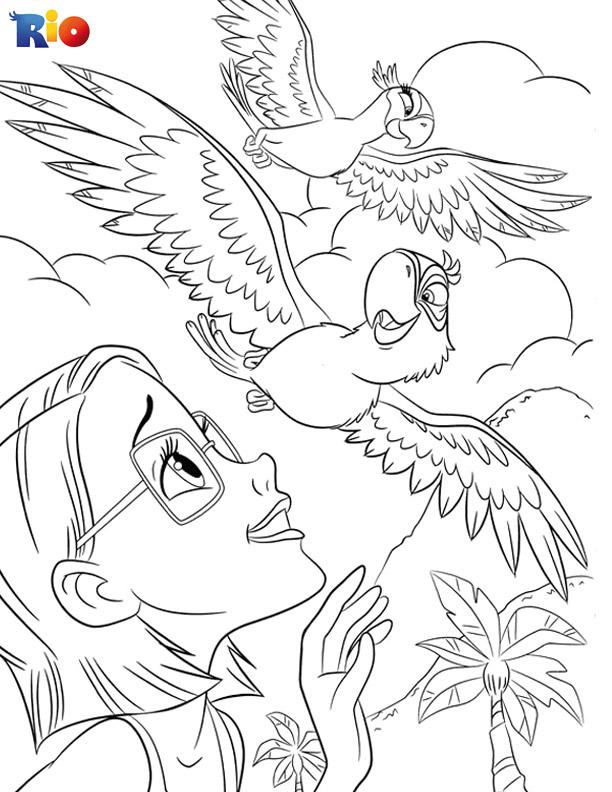 Amazing Rio coloring page