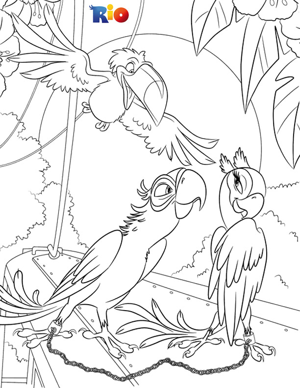 Rio coloring page to color for free