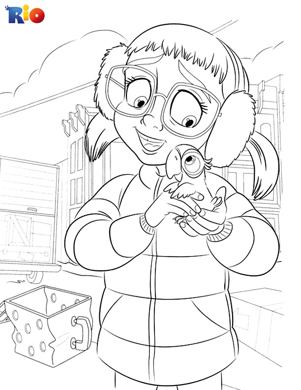 Rio free coloring page for children