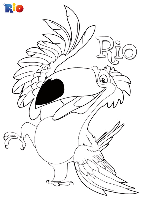 Rio coloring book sheet