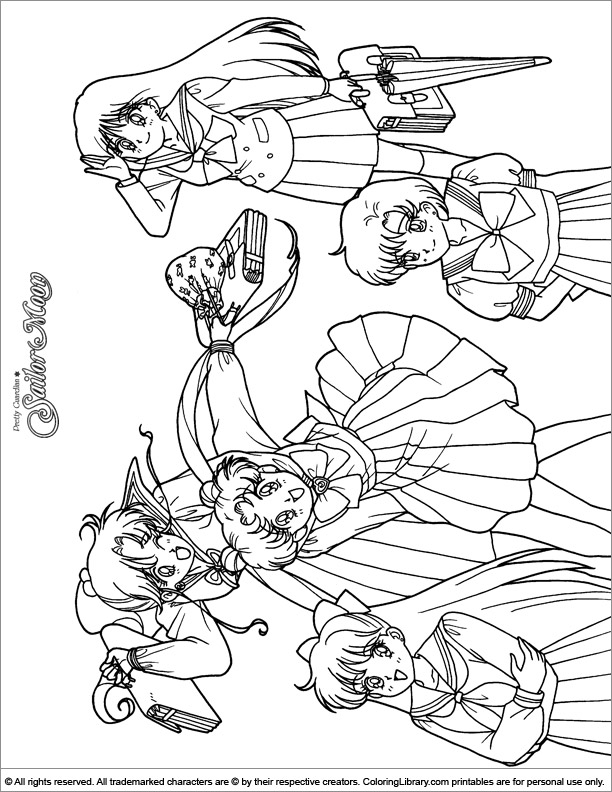 Sailor Moon Coloring Book Picture Coloring Library