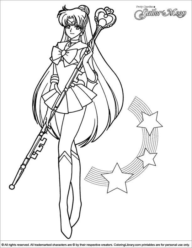 Sailor Moon free printable coloring page