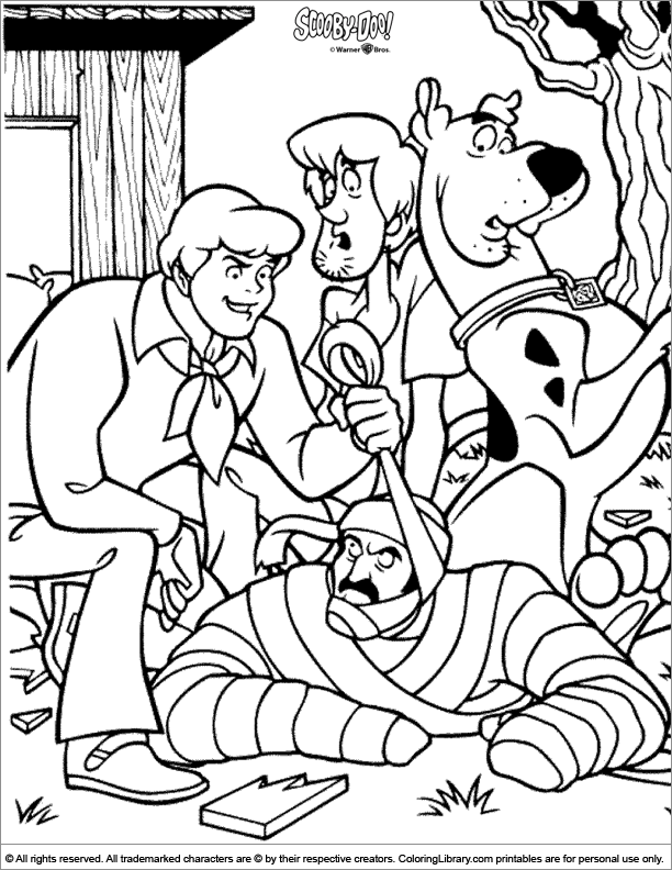 - Scooby Doo Coloring Sheet For Kids - Coloring Library