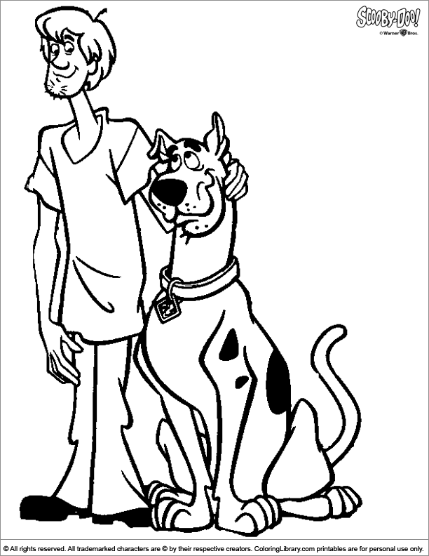 free printable scooby doo coloring pages - scooby doo colouring in coloring library