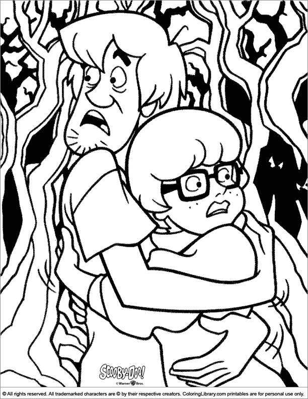 scooby doo coloring picture - Scooby Doo Coloring Page