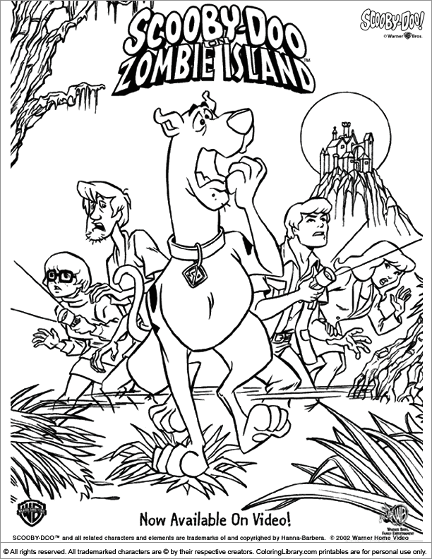 Scooby Doo Coloring Picture