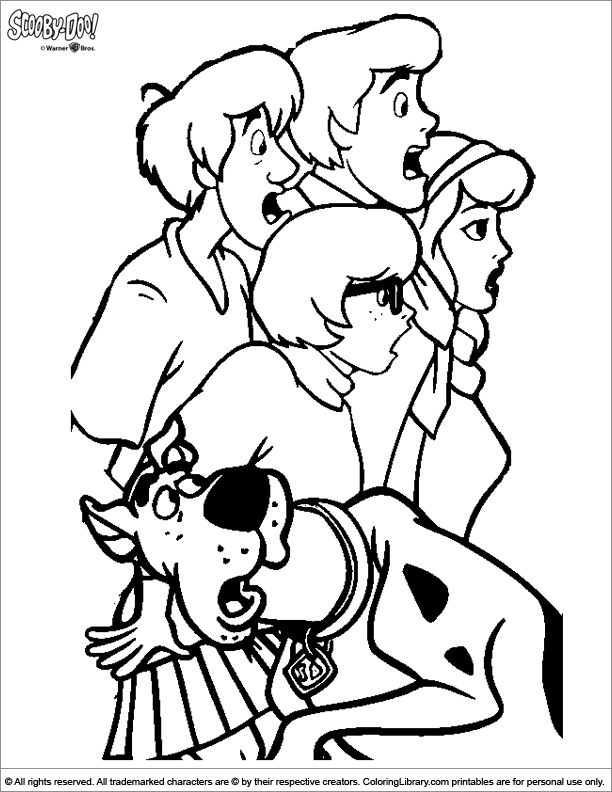 Scooby Doo for coloring