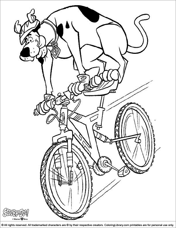 Scooby Doo coloring sheet to print