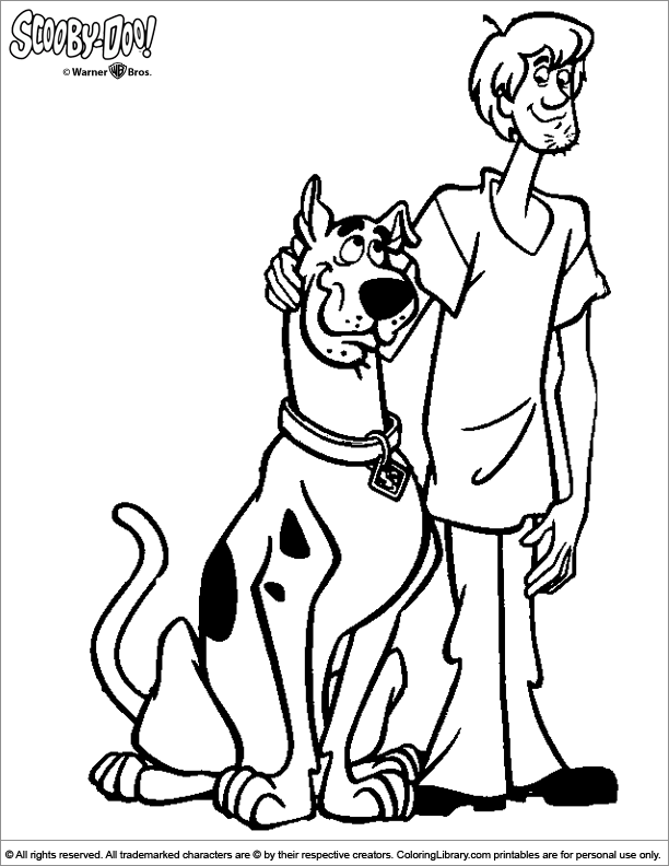 Scooby Doo coloring page to print