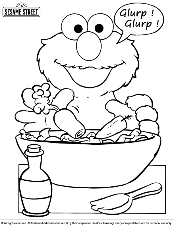 sesame street coloring picture