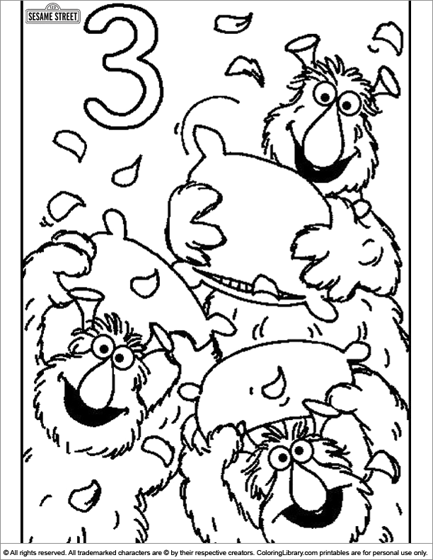 - Sesame Street Free Coloring Sheet - Coloring Library