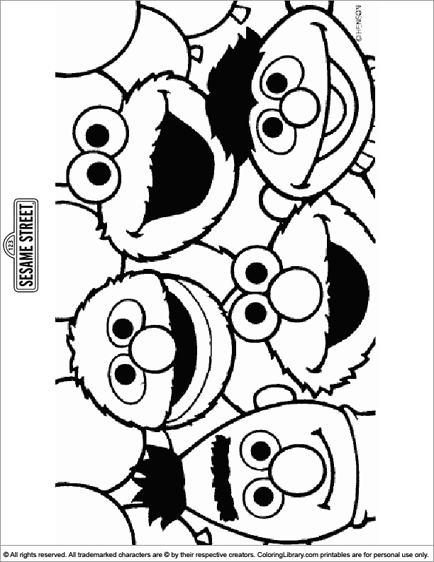 Sesame Street Coloring Sheets For Kids - Coloring Library