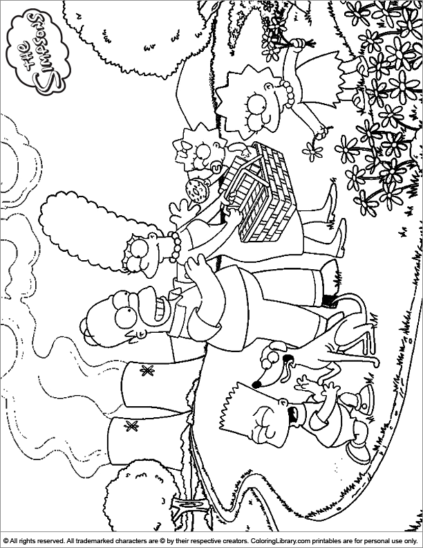 Amazing Simpsons coloring page