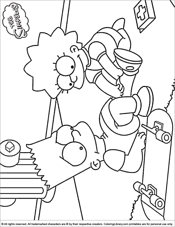 Simpsons Coloring Page #1