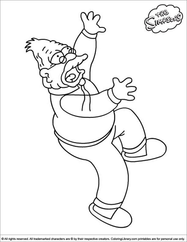 Simpsons coloring book sheet