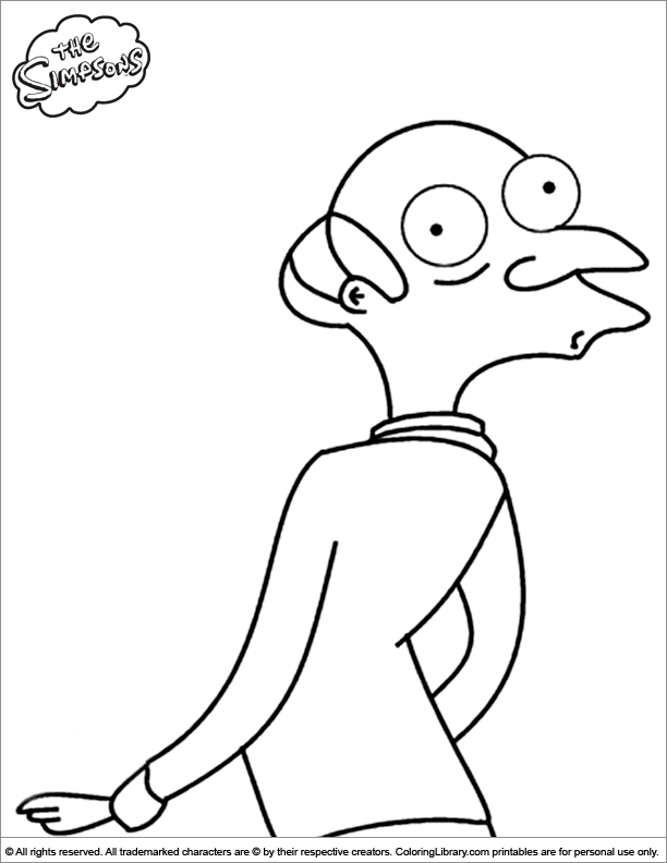 Simpsons coloring picture