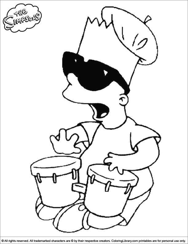 Simpsons coloring book sheet