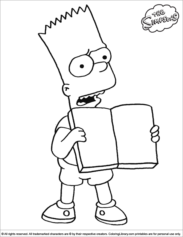 Simpsons colouring page