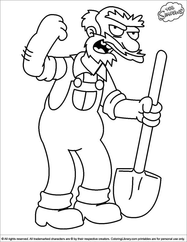 Simpsons free printable coloring page