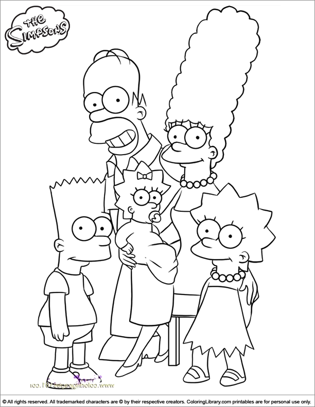 Simpsons coloring page online