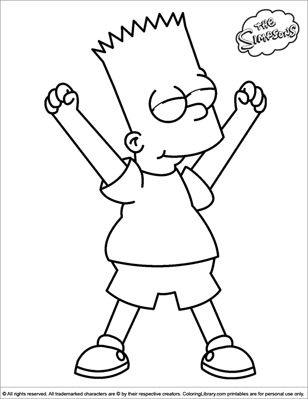 Simpsons free coloring sheet