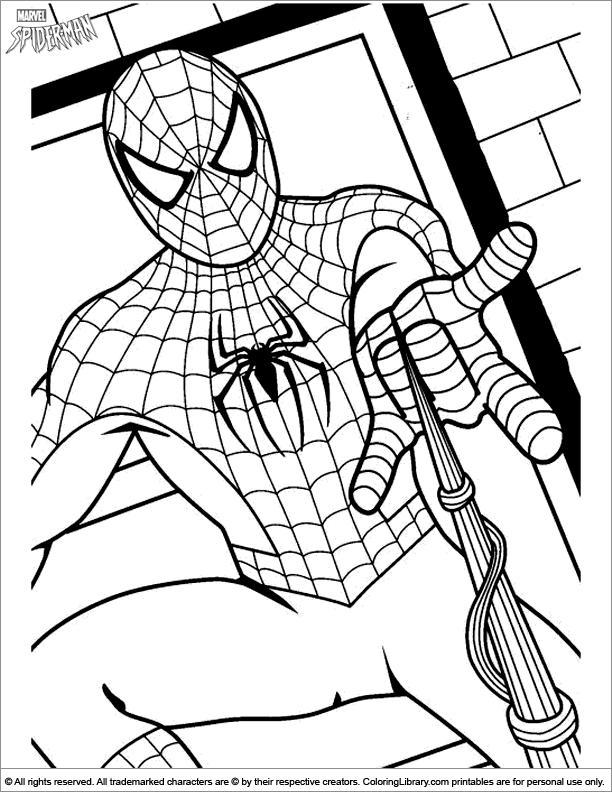 Spider Man Coloring Picture