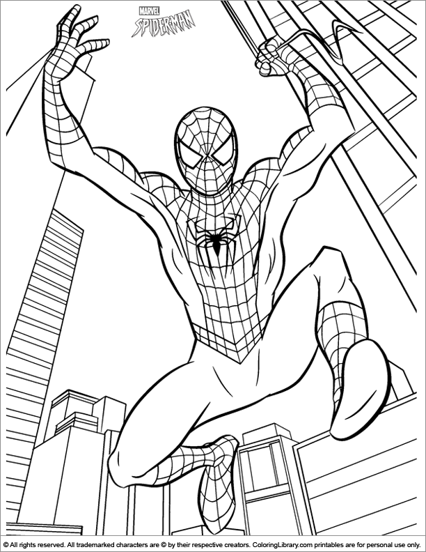 spiderman halloween coloring pages - photo#10