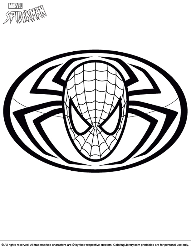 spider man png 612x792 color pages spiderman symbol - Coloring Pages Spiderman Symbol