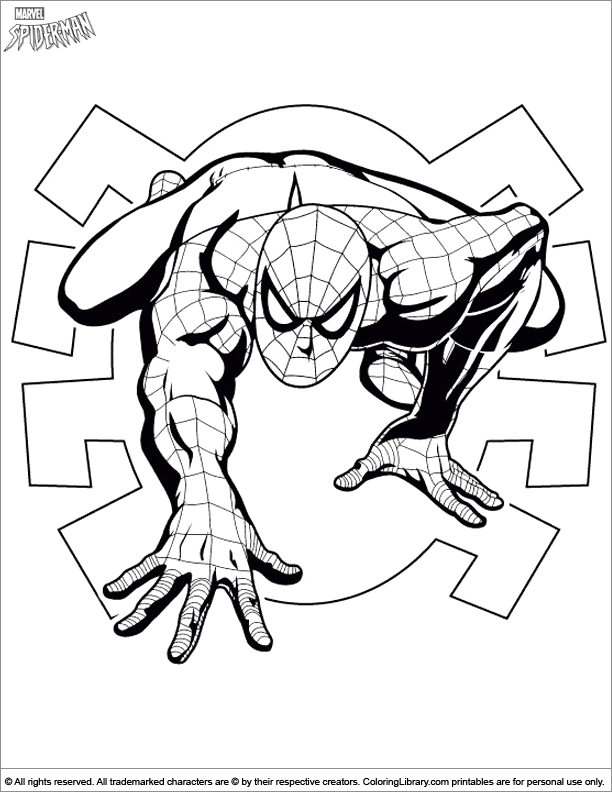 Spider Man Noir Pages Coloring Pages