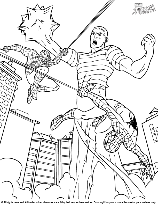 Coloring Pages Spider Man #1