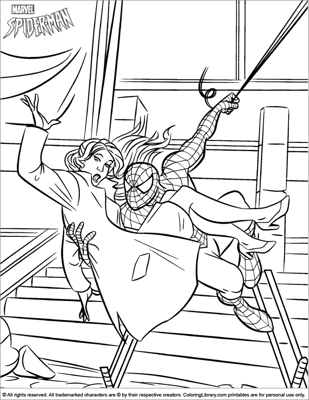 Spider Man free printable coloring page - Coloring Library