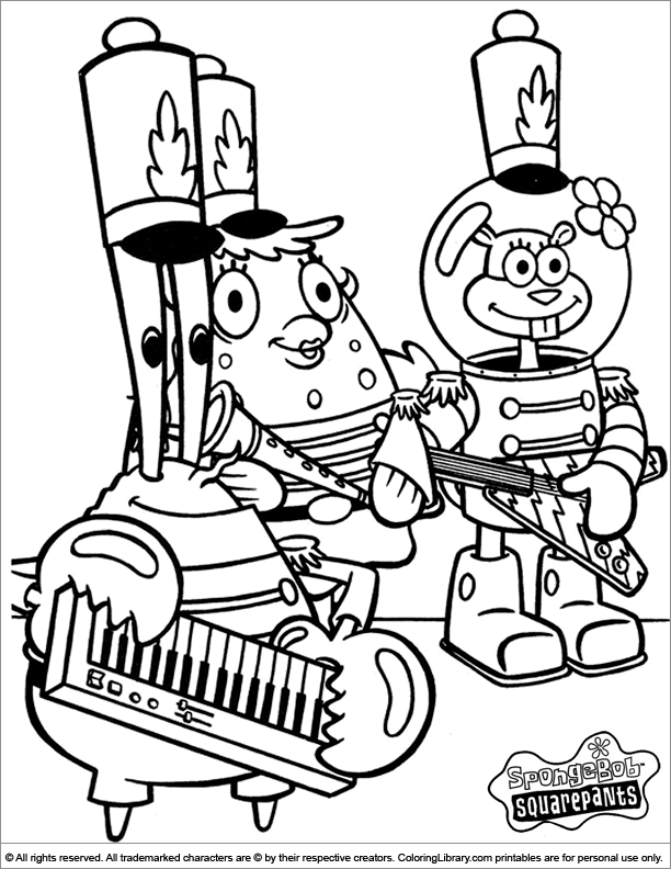 SpongeBob coloring book picture