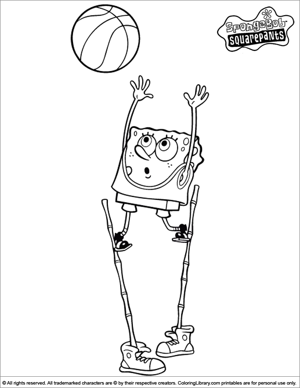 SpongeBob colouring page
