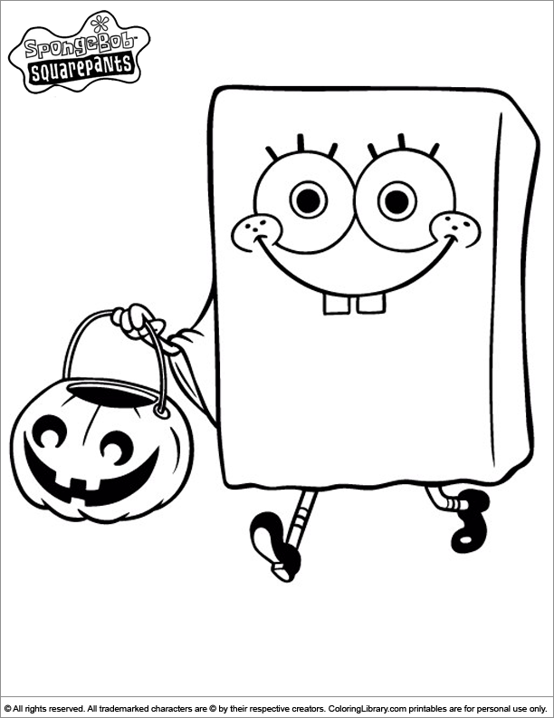 SpongeBob coloring book sheet