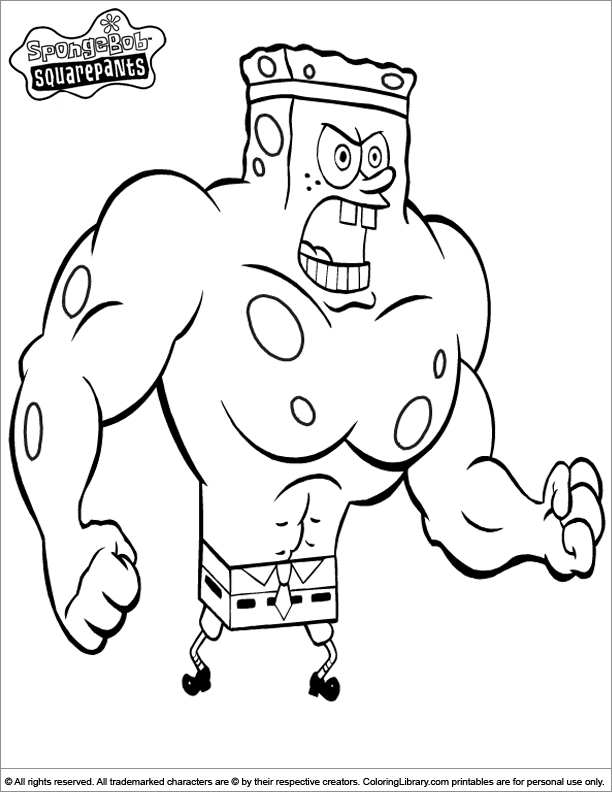 SpongeBob coloring picture