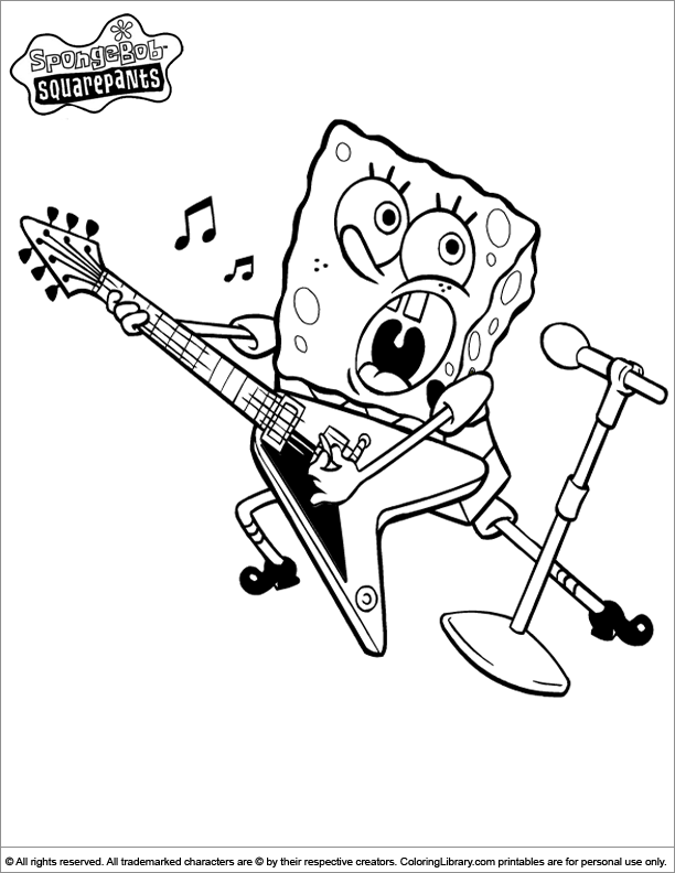 SpongeBob coloring picture for kids