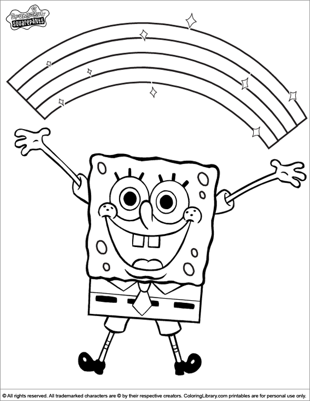 SpongeBob Coloring Book Page For Kids - Coloring Library