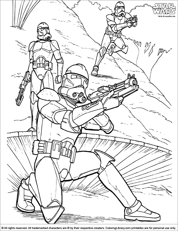 Star Wars Free Printable Coloring Page - Coloring Library
