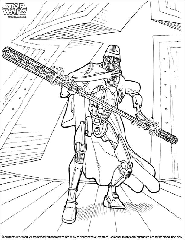 Star Wars coloring sheet for kids