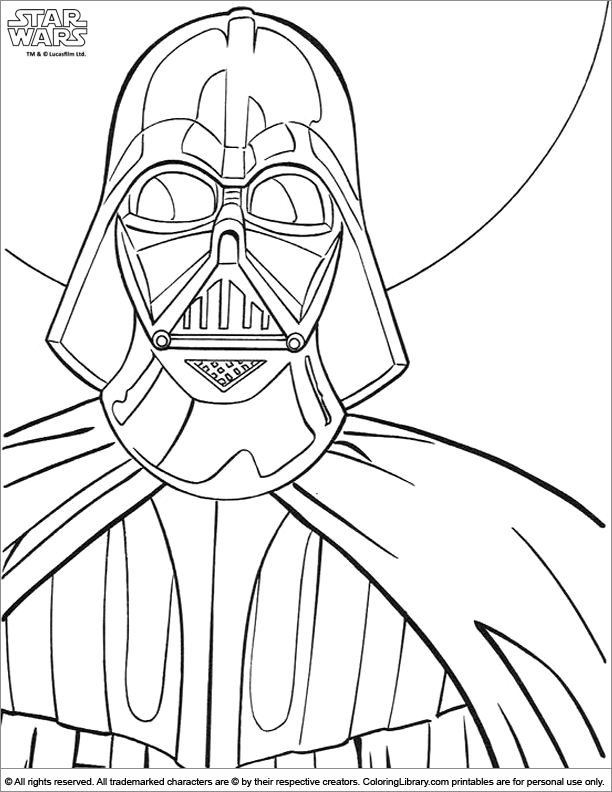 Star Wars free coloring sheet