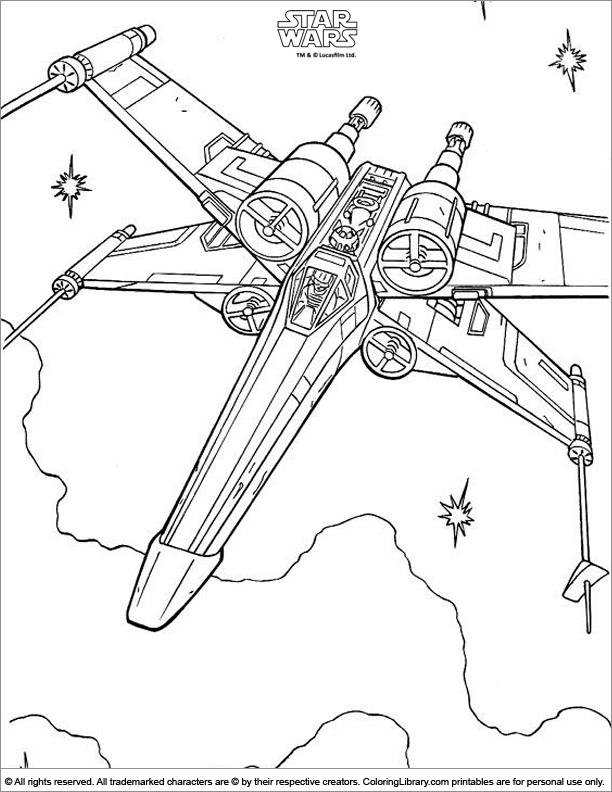 Pics Photos Star Wars Ships Coloring Pages