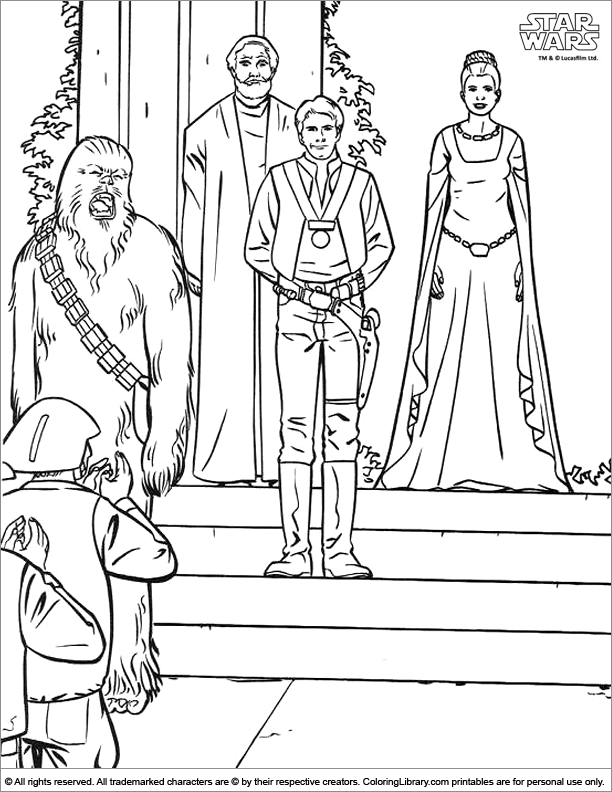 Printable Star Wars coloring page