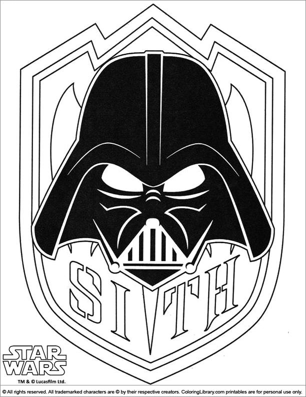 Star Wars coloring book sheet