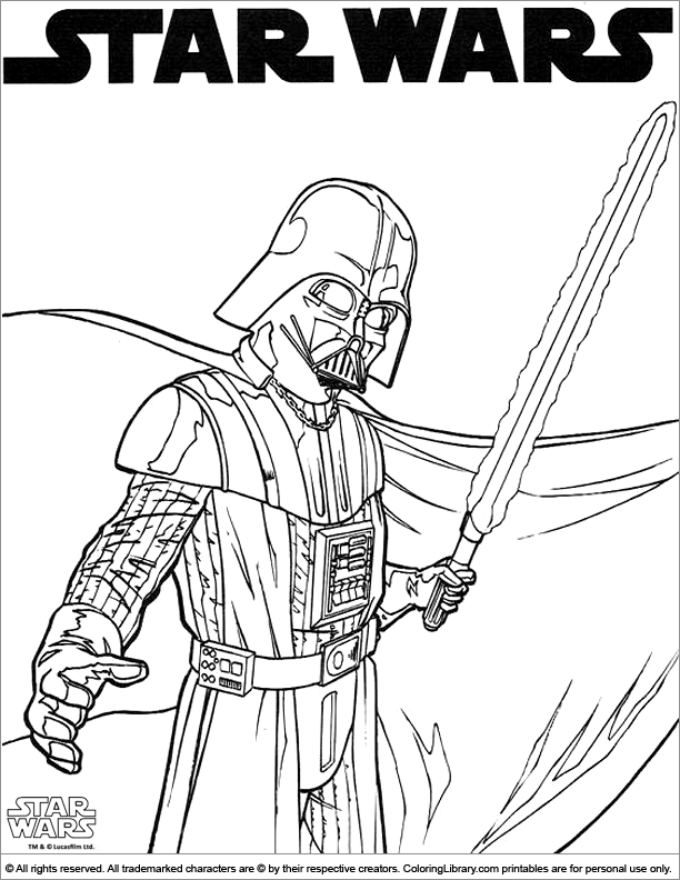 Fun Star Wars coloring page