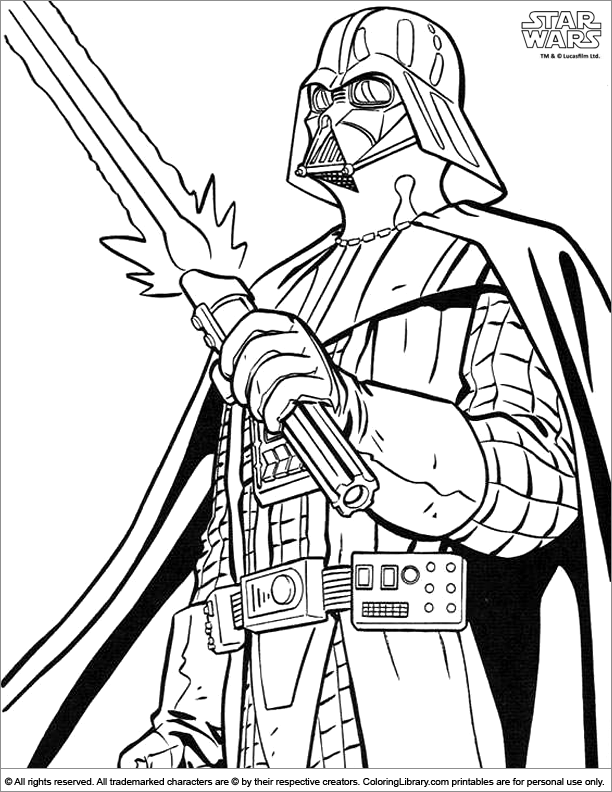 star wars coloring picture - Star Wars Coloring Pages