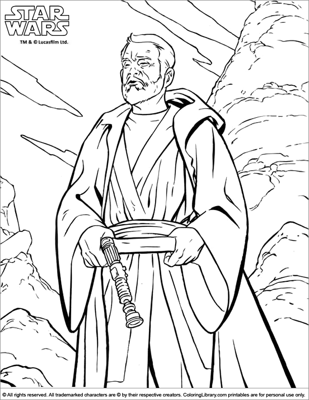 Star Wars coloring sheet to print