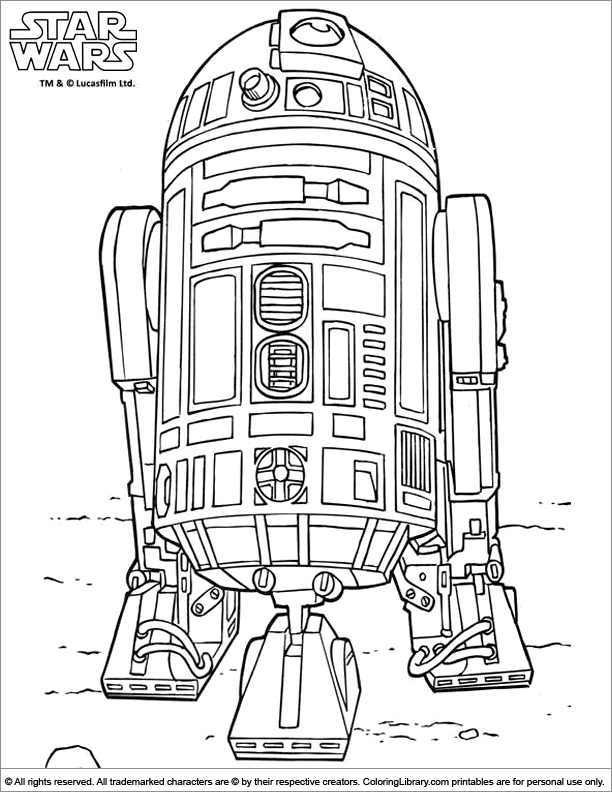 Star Wars colouring sheet