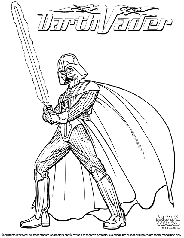 Star Wars free coloring page