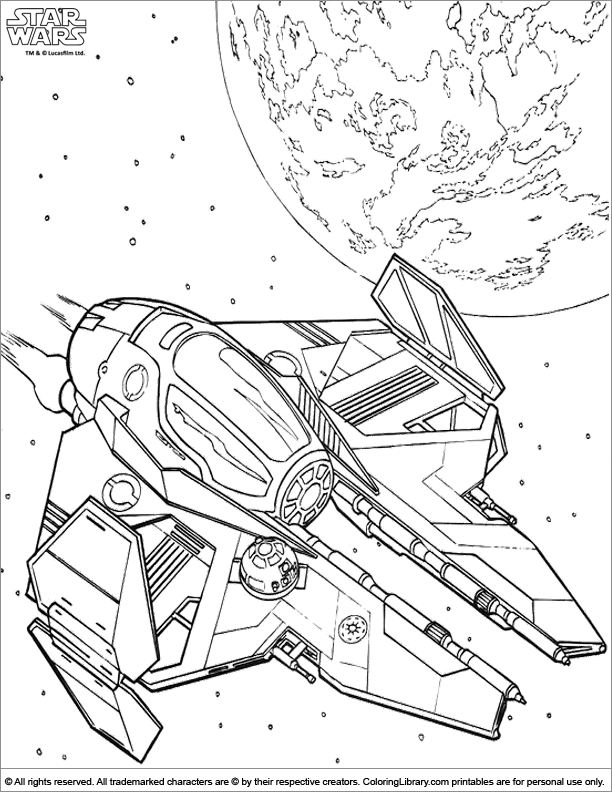- Star Wars Coloring Book Page For Kids - Coloring Library